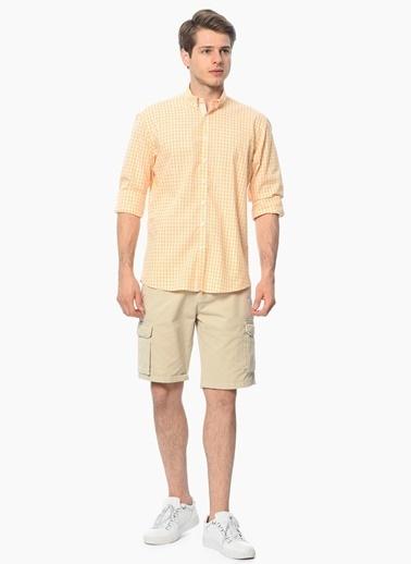 George Hogg Kareli Uzun Kollu Gömlek Oranj